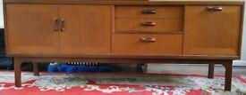 G-Plan Teak Sideboard 3 Drawers Double door cupboard Drop down door cupboard