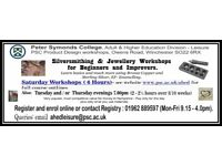 Silversmithing & Jewellery Workshops for Beginners & Improvers