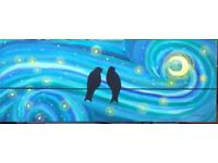 Original art - Love Birds Van Gough Style