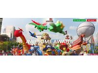 4 Legoland Windsor Tickets for 2nd September. 2/9/16