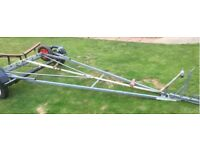 Galvanised boat with launch trailer may px for car or box trailer
