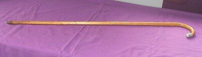 ANTIQUE 1918  J .HOWELL STERLING  SILVER TIP PARTRIDGE WOOD WALKING STICK CANE