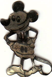Vintage Mickey Mouse & Pot Metal Squirrel Brooches