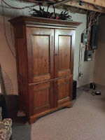 Custom made entertainment armoire