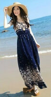 Maxi sleeveless chiffon beach dress