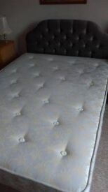 Double bed with posturepaedic mattress. In good condition