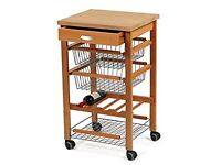 Arredamenti Italia 540 Arturo Kitchen Trolley Storage Unit Serving Cart (BRAND NEW IN BOX)