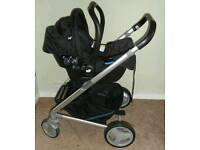 Joie chrome travel system in jade colour pack