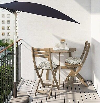 Table f wall+2 fold chairs, outdoor IKEA