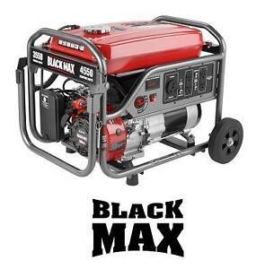 USED* BLACK MAX 3550 WATT GENERATOR 4550 STARTING WATTS - 3550 RUNNING WATTS - AUTOMOTIVE POWER PORTABLE GENERATOR