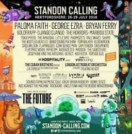 Standon Calling weekend camping tickets