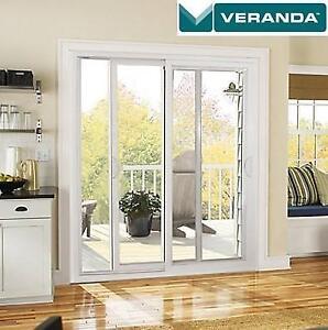 NEW* VERANDA PVC PATIO DOOR 6' PPD6068XX 207432919 DOUBLE SLIDING