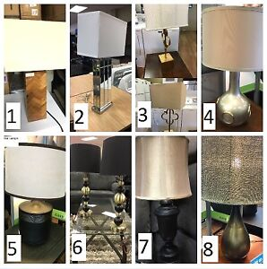 ASSORTED ASHLEY LAMPS - PRICES VARY - #GOEASY