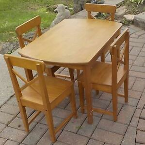 Solid wood child's table and chairs