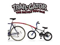 Trailgator attachment for adult to child bike