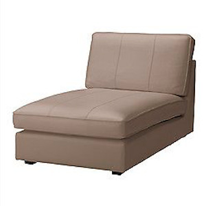 Leather Sofa (BEIGE) from IKEA / Fauteuil en Cuir (BEIGE) d'IKEA