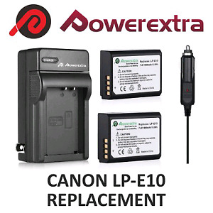 REPLACEMENT battery pack of 2 for canon LP-E10