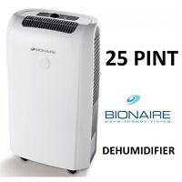 Bionaire 25 Pint dehumidifier for sale