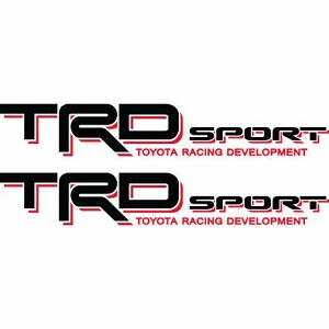 Toyota Tacoma Tundra Trd Sport Decals Stickers Black Red