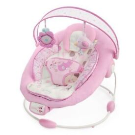 Pink baby vibrating chair with music
