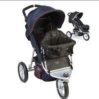 Valco trimode runabout double stroller with Joey seat