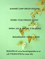 Summer Violin and Piano Lessons