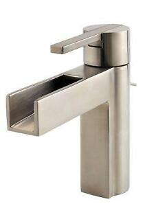 Beau Brushed Nickel Bathroom Faucet Waterfalls