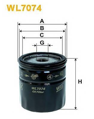 WIX FILTERS WL7074 OIL FILTER  PA516847C OE QUALITY
