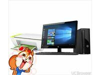 HP 21.5 Inch AMD E2 4GB 1TB Desktop PC and Printer including speakers . HP 21.5 Inch AMD E2GBTDeski