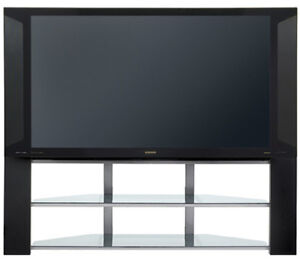 Hitachi 50 inch rear projection TV and matching stand