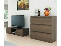 Modern chest of drawers. New units. White & brown