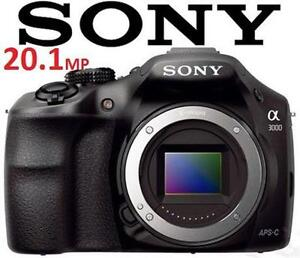 USED* SONY ALPHA 20.1MP CAMERA a3000 Digital Camera BODY ONLY - ELECTRONICS 105925588