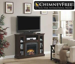 NEW CHIMNEY FREE MEDIA FIREPLACE ELECTRIC L 47.50 inches x W 13.00 inches x H 35.75 inches - FIRE HEATER HOME  83565395