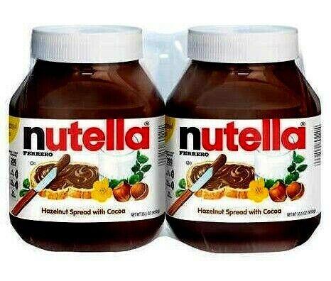 Nutella Hazelnut Spread, 33.5 oz, 2 ct. Nov/2021