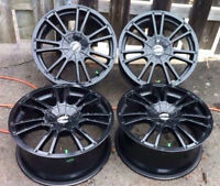 4 mags American Racing 18x8 offset +42  5x115  ou 5x100