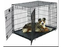 Foldable Dog Crate Cage, 30-Inch, Silver Galvanized Anti-Rust