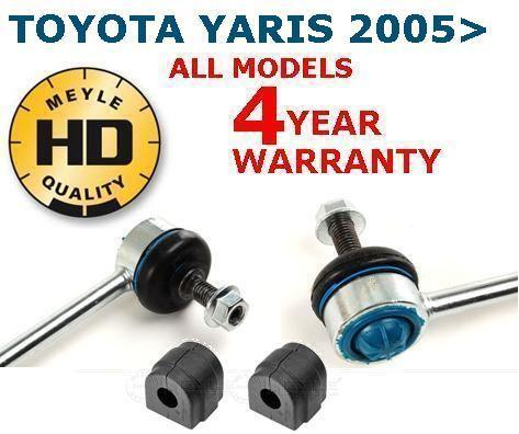 FRONT HEAVY DUTY DROP LINKS PAIR AND FRONT D BUSHES STABILIZER STABILISER 4 YEAR