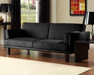 NEW Futon Sofa Bed Couch Black Clack Living Room