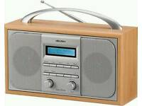 Bush Arden Wooden DAB/FM Stereo Radio Alarm Clock RRP £30
