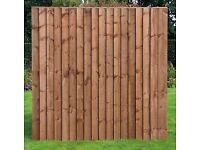 HEAVY DUTY VERTILAP FEATHER EDGE FENCE PANEL PRESSURE TREATED (6FT X 6FT)