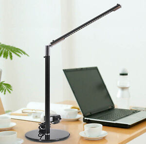New Black Symple 24 LED Desk Table Lamp Toughened Glass Base USB/AC 110V 220V