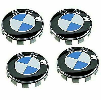 4x BMW Alloy Wheel Centre Caps Fits Most 1 3 5 7 Series X6 M3 Z4 E46 E90 68mm