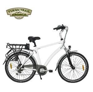 NEW YUKON TRAILS ELECTRIC BIKE - 126970807 - HYBRID BIKE - SPORT - WHITE - XPLORER BICYCLE