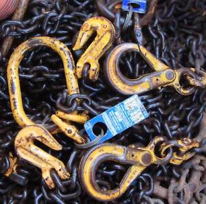 10mm lifting chains 2 leg 6m drop shorteners tagged 8 available Mitchell Gungahlin Area Preview