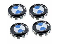 BMW Alloy Wheel Centre Caps 68mm Fits 1, 3, 4, 5, 6 series