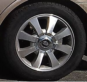 4 Winter Tires on Aluminum Alloy Rims - Weathermate 205/55/R16