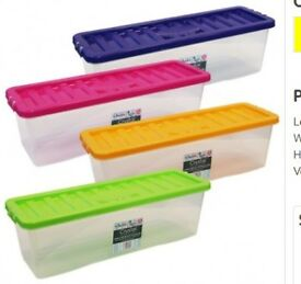 2 X plastic CD storage boxes
