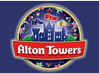 ALTON TOWERS TICKETS x 2 ANY TIME