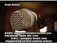 OPEN MIC LIVE NIGHT IS BACK!