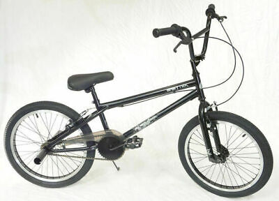 "Greytek Skorpion BMX Bike Boys Stunt Bicycle 20"" Wheel 1 Speed Blk/Grey Junior"